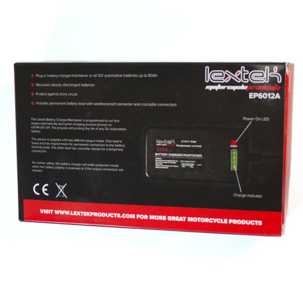 lextek motorcycle 12v battery optimiser charger for yamaha. Black Bedroom Furniture Sets. Home Design Ideas